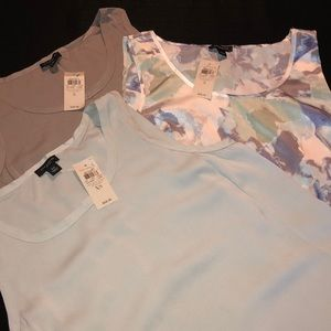 Ann Taylor 3pc blouse bundle NWT